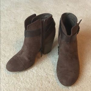 Gently used brown booties.
